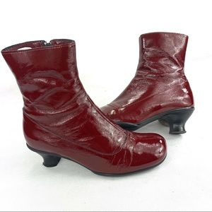 La Canadienne Patent Leather Boots Ankle Booties 7